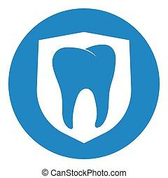 bouclier, shieldclean, dent, propre, blanc, fort