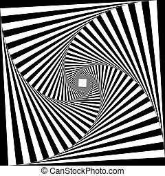 bouclier, tridimensional, pseudo, fond, illusion, arabesque, escalier, transparent