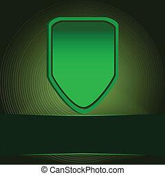 bouclier, vert, protection