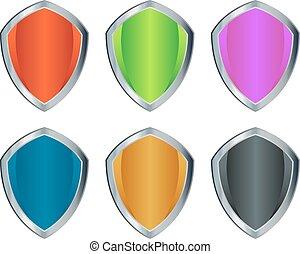 boucliers, coloré