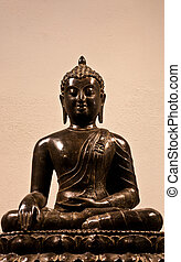 bouddha, assis