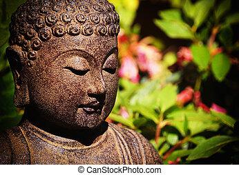 Bouddha jardin jardin assis sombre bouddha ombrag for Bouddha dans jardin