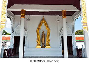 bouddha, doré, thaïlande, statue