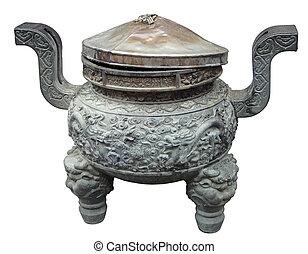 bouddha, jade, bol, temple