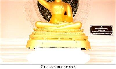 bouddha, or, statue