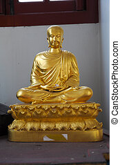 bouddha, statue, temple, ratchanatdaram, wat