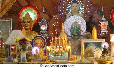 bouddha, statues, temple