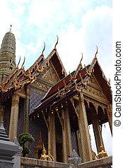bouddha, temple, émeraude