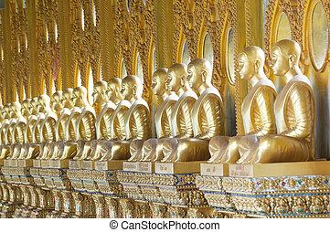 bouddha, thaïlande, temple or