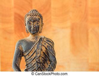 bouddha, torse, fond, paisible