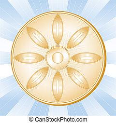 bouddhisme, symbole, fleur de lotus
