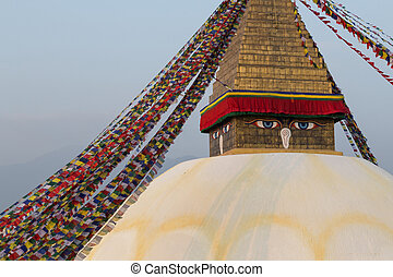 Boudhanath Stupa in Kathmandu, Nepal