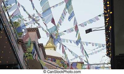 Boudhanath Stupa in the Kathmandu valley, Nepal. -...