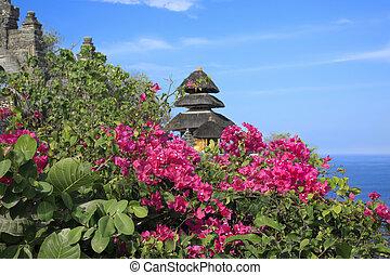 Bougainvillea and Hindu Temple Bali