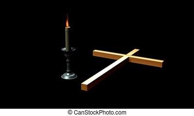 bougie, croix