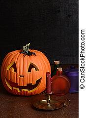 bougie, vie, encore, halloween