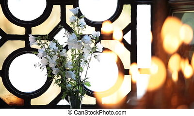 bougies, église
