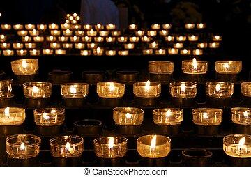 bougies, église, victimes, beaucoup