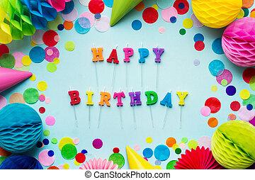bougies, anniversaire, heureux