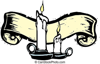 bougies, bannière