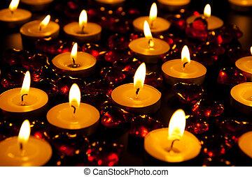 bougies, brûlé