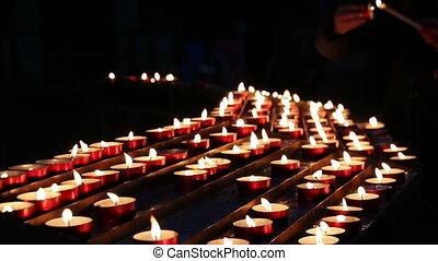 bougies brûler, church.