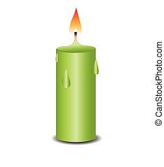 bougies brûler, illustration