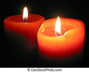 bougies brûler