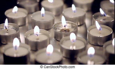 bougies, fermé, virage