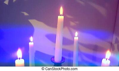 bougies, flamboyant, bougeoir