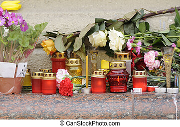 bougies, fleurs, brûlé