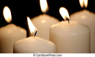 bougies, -, hd, lumières