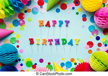 bougies, joyeux anniversaire
