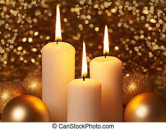 bougies, noël, brûlé