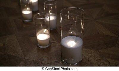 bougies, plancher