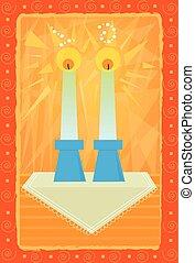 bougies, sabbat