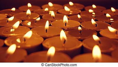 bougies, vue