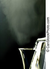 bouilloire fumante