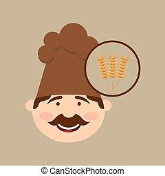 boulanger, blé, tenue