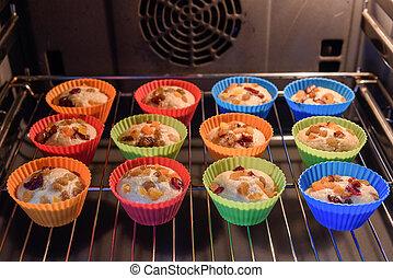 boulanger, petits gâteaux, fait maison, coloré