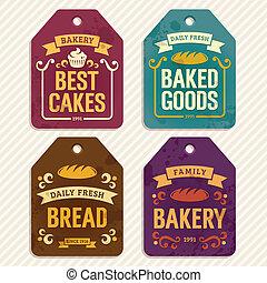 boulangerie, étiquettes