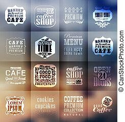 boulangerie, étiquettes, retro, typographie