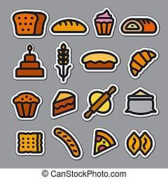 boulangerie, autocollants