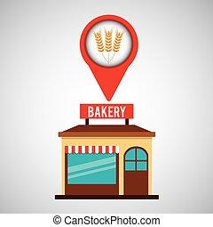 boulangerie, blé, magasin, pointe