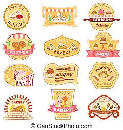 boulangerie, collection, étiquette