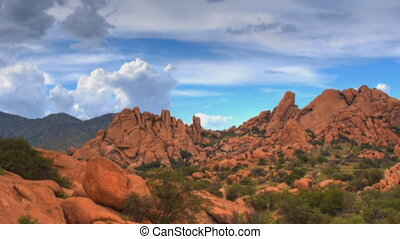 Boulder Canyon - Panorama of a rocky canyon