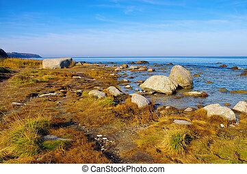 boulder Kap Arkona, Ruegen Island in Germany