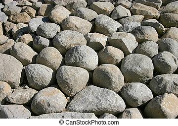 Boulder Pile - A pile of large bolders.