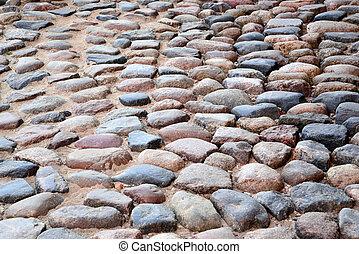 Boulder road texture