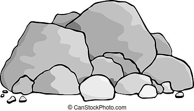 Boulders - A pile of boulders and rocks.